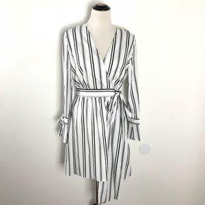 River Island Asymmetric Striped Shirt Dress
